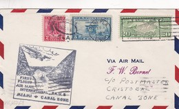 FIRST FLIGHT AIR MAIL INTERNATIONAL F.A.M.S. MIAMI - CANAL ZONE 1929. U.S.A. ENVELOPE CIRCULATED  -LILHU - Poste Aérienne