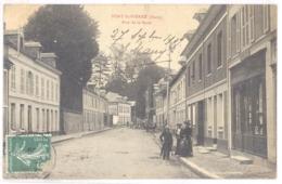 CPA 27 - PONT SAINT PIERRE (Eure) - Rue De La Gare (Petite Animation) - Francia