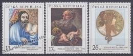 Czech Republic - Tcheque 2000 Yvert 260-62 Art, Paintings- MNH - República Checa