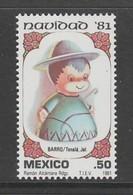TIMBRE NEUF DU MEXIQUE - POUPEE EN ARGILE DE TONALA, JALISCO : MEXICAIN (NOËL 1981) N° Y&T 950 - Poupées