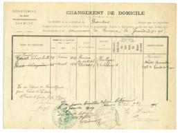 Chgt Domicile 1901. Rousies (Nord) Vers Ferrières La Grande. Bersillies Belgique Jengt. - Documents Historiques
