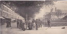 Carte Double 1900 Quimper - La Préfecture Boulevards De L'Ode (beau Plan Animé) - Quimper