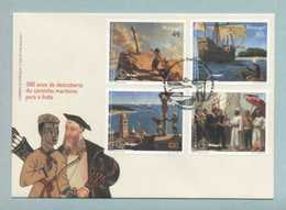FDC, Portugal, 500 Anos Descoberta Do Caminho Maritimo India, Vasco Da Gama, Mark CTT Lisboa 5/11/1997   (2 Scans) - FDC