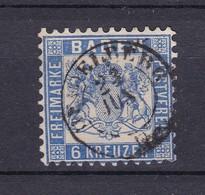 Baden - 1862/66 - Michel Nr. 19 - Gest. - 40 Euro - Baden