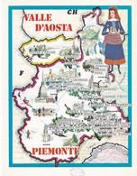 VALLE D'AOSTA , PIEMONTE - ENOGRAFIA REGIONALE DEI VINI D.O.C - Mappe