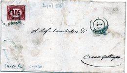 CG4 - Italia - Lettera Da Omegna Del 24/11/1876 Per Crana Gattugno - Italy