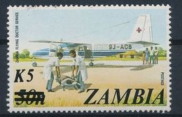 Zambie Red Cross Croix Rouge Plane Avion Surchargé MNH - Premio Nobel