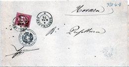 CG4 - Italia - Lettera Da Borgomanero Del 8/1/1876 Per Novara - Italy