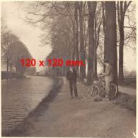 Liège - Le Long Du Canal De Maastricht - Dim. 120 X 120 Mm. - Luoghi