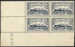 Coin Daté  Du 30-3-35  - Y&T  299 --  Normandie -  NEUF** - Cote 175e - 1930-1939
