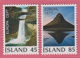 1977 **Islande  (sans Charn., MNH, Postfrish)  Yv  475/6Mi  522/3FA  559/60 - Neufs