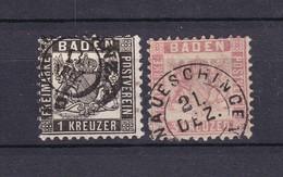 Baden - 1862/66 - Michel Nr. 17/18 - Gest. - 25 Euro - Baden