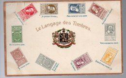 BELGIQUE - FINE BARBE -CP LANGAGE DES TIMBRES - HALANZY 1910 Vers HALMAEL   - TTB - KX5 - 1893-1900 Schmaler Bart