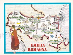 EMILIA ROMAGNA - ENOGRAFIA REGIONALE DEI VINI D.O.C - Mappe