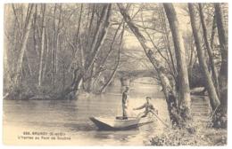 CPA 91 -  BRUNOY (Essonne) - 636. L'Yerres Au Pont De Soulins (Animée, Barque) - Brunoy