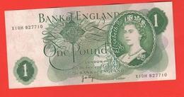GB ONE Pound 1970 > 1977 England Gran Bretagna Inghilterra Elisabetta II - 1 Pound