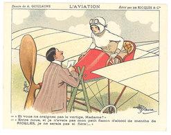 Chromo Ricqlès & Cie , L'Aviation , Signé Guillaume ( Monoplan, Aviatrice ) - Sonstige