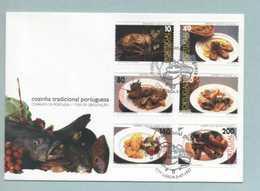 FDC, Portugal, Cozinha Tradicional Portuguesa, Mark CTT Lisboa 5/7/1997   (2 Scans) - FDC