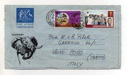 UGANDA - 1978 - Aereogramma Viaggiato Dall'Uganda Per Povo (Trento) - (FDC19384) - Uganda (1962-...)
