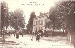 """Dépt 21 - SAULIEU - Gare P.-L.-M. - (A. Duciel, édit., Saulieu, N° 540) - Camion """"COURRIER De SAINT-BRISSON à SAULIEU"""" - Saulieu"""