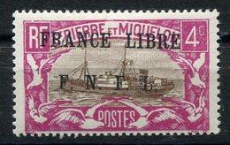 RC 15322 SAINT PIERRE ET MIQUELON SPM N° 235 SURCHARGE FRANCE LIBRE COTE 100€ NEUF * MH TB - St.Pierre & Miquelon