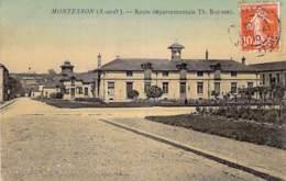 """78 - MONTESSON : Ecole Départementale Th. Roussel - CPA Village """"vernie"""" Et """"colorisée"""" - Yvelines - Montesson"""