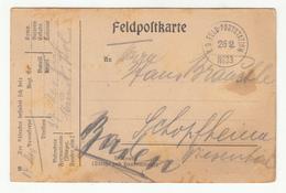 Germany Feldpostcarte Postcard Posted 1916 K.D. Feld-poststation No 33 B200115 - Allemagne