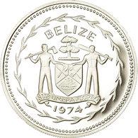 Monnaie, Belize, 5 Dollars, 1974, Franklin Mint, Proof, FDC, Argent, KM:44a - Belize
