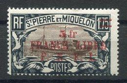 RC 15327 SAINT PIERRE ET MIQUELON SPM N° 245 SURCHARGE FRANCE LIBRE COTE 30€ NEUF * MH TB - St.Pierre & Miquelon