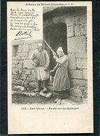 CPA - Karten Bost - Poésies De Botrel Illustrées - Les Vieux - Environs De Quimper  (dos Non Divisé) - Quimper