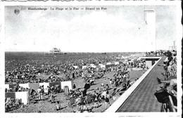 BLANKENBERGE - La Plage Et Le Pier - Oblitération De 1956 - Edit. : Bazar De La Digue - Blankenberge