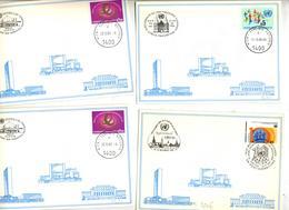 Lot 12 Carte Cachet Wien + Exposition à Voir - Brieven En Documenten