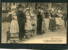 CPA - Fête Des Drapeaux Bretons - Costumes De PONT-AVEN Et QUIMPER, Très Animé - Quimper