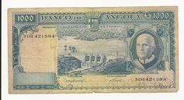 Portuguese Angola 1000 Escudos 1962 Perhaps Fine - Portugal