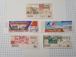Lot De 5 Billets De Loterie, 1973/74 - Loterijbiljetten