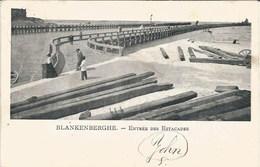 BLANKENBERGE - Entrée Des Estacades - Carte Précurseur - Timbre Enlevé - Blankenberge