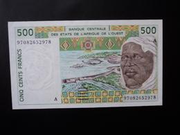 CÔTE D'IVOIRE : 500 FRANCS   (19)97   P 110Ah *   SPL (= About Uncirculated) - Elfenbeinküste (Côte D'Ivoire)