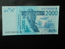 CÔTE D'IVOIRE : 2000 FRANCS   (20)14      P 116A     TTB+ - Côte D'Ivoire