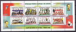 Soccer World Cup 1998 - COMORES - Sheet MNH - 1998 – Francia