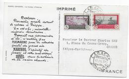 "1951 - MARRUECOS / MAROC  - CARTE POSTALE MEDICALE ""IONYL"" De LARACHE => GRASSE (ALPES MARITIMES) - Marocco Spagnolo"