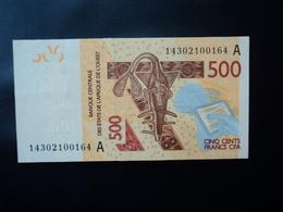 CÔTE D'IVOIRE : 500 FRANCS   (20)14      P 119A     SUP+ - Elfenbeinküste (Côte D'Ivoire)
