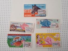 Lot De 5 Billets De Loterie, 1973/74 - Billets De Loterie