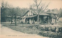 LA FORET LANDAISE - L'ATELIER DE DISTILLATION DE RESINE (C P DE CARNET) - France