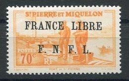 RC 15333 SAINT PIERRE ET MIQUELON SPM N° 260 SURCHARGE FRANCE LIBRE COTE 60€ NEUF * MH TB - St.Pierre & Miquelon
