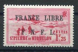 RC 15336 SAINT PIERRE ET MIQUELON SPM N° 264 SURCHARGE FRANCE LIBRE COTE 35€ NEUF * MH TB - St.Pierre & Miquelon