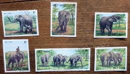 VIETNAM 1987 ELEPHANT - ANIMALS SET 6 USED STAMPS - Vietnam