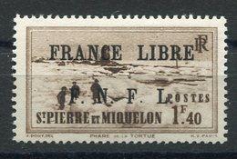 RC 15337 SAINT PIERRE ET MIQUELON SPM N° 265 SURCHARGE FRANCE LIBRE COTE 30€ NEUF * MH TB - St.Pierre & Miquelon