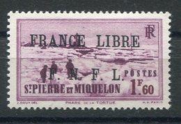 RC 15338 SAINT PIERRE ET MIQUELON SPM N° 267 SURCHARGE FRANCE LIBRE COTE 30€ NEUF * MH TB - St.Pierre & Miquelon