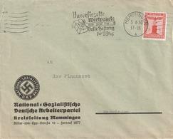 Deutsches Reich / 1938 / Dienstmarke Mi. 149 EF Auf Brief, Abs. NSDAP-Kreisleitung Memmingen (5152) - Officials