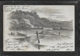 AK 0408  Mondschein-Postkarte - Wasserlandschaft / Verlag Winkler & Schorn Um 1900 - Gruss Aus.../ Grüsse Aus...